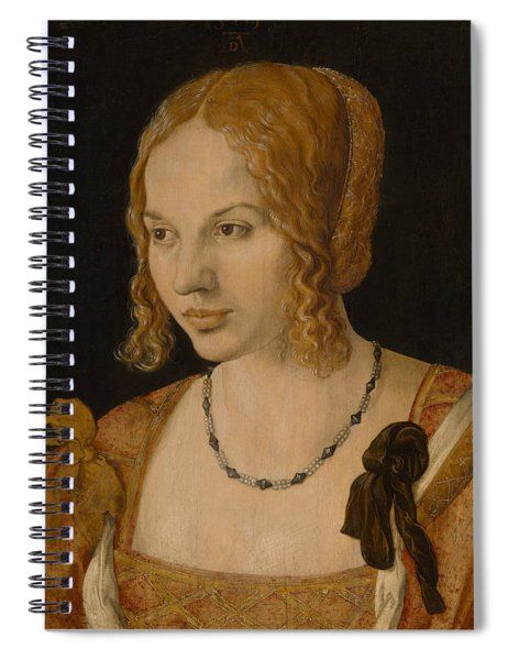 Portrait Of A Young Venetian Woman Spiral Notebook