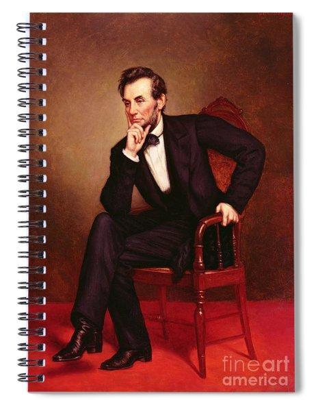 Portrait Of Abraham Lincoln Spiral Notebook