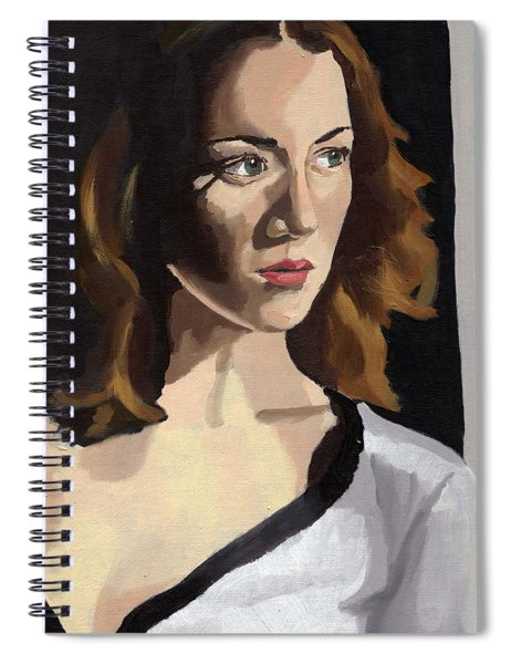 Portrait Of Becca Spiral Notebook