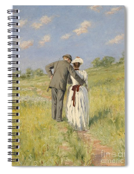 Portrait Of Captain William Holmes And Mary Shafter Mckitterick Spiral Notebook