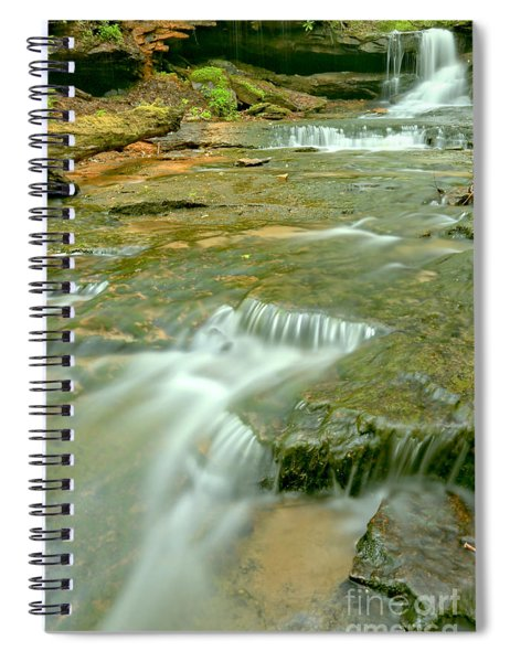 Portrait Of Cave Falls Spiral Notebook