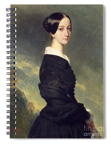 Portrait Of Francisca Caroline De Braganca Spiral Notebook