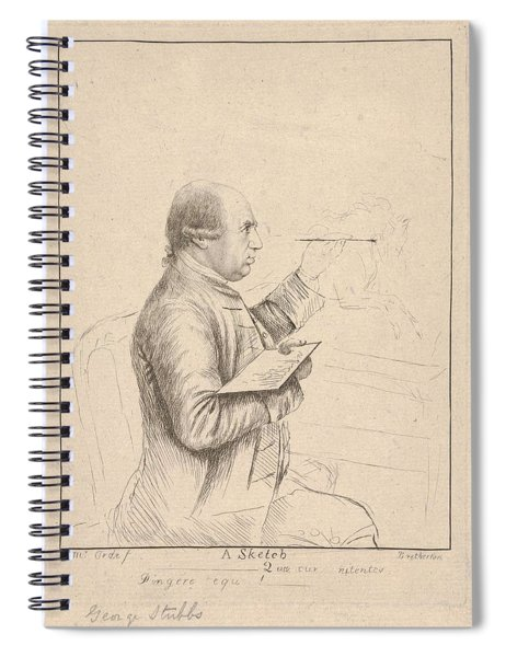 Portrait Of George Stubbs By James Bretherton Spiral Notebook