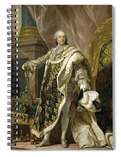 Portrait Of Louis Xv Of France Spiral Notebook