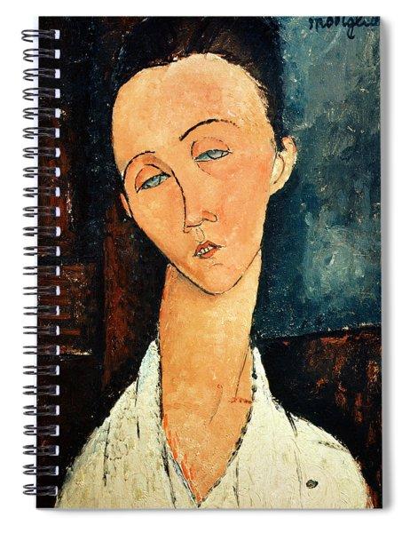 Portrait Of Lunia Czechowska Spiral Notebook