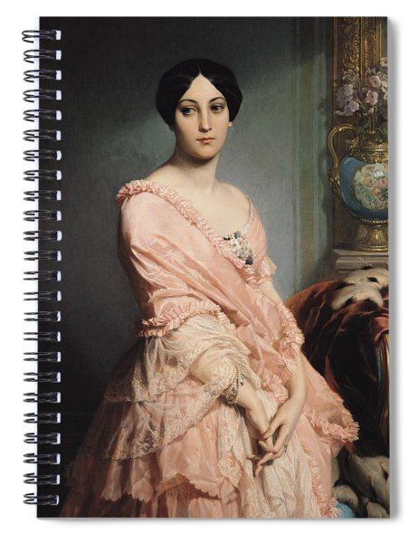 Portrait Of Madame F Spiral Notebook