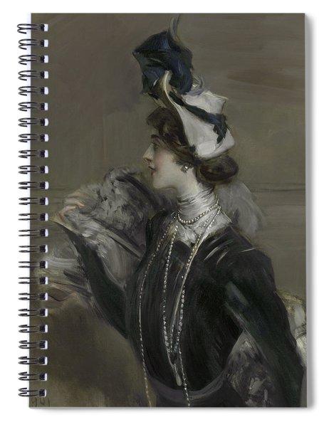 Portrait Of Mademoiselle Lina Cavalieri Spiral Notebook