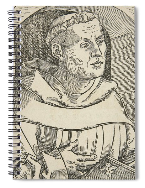 Portrait Of Martin Luther Spiral Notebook