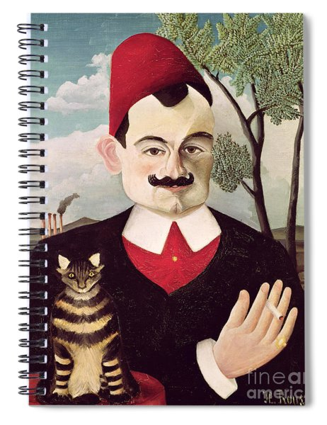 Portrait Of Pierre Loti Spiral Notebook