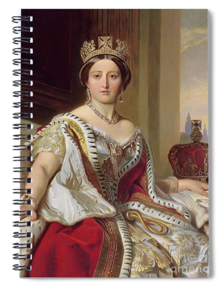 Portrait Of Queen Victoria Spiral Notebook