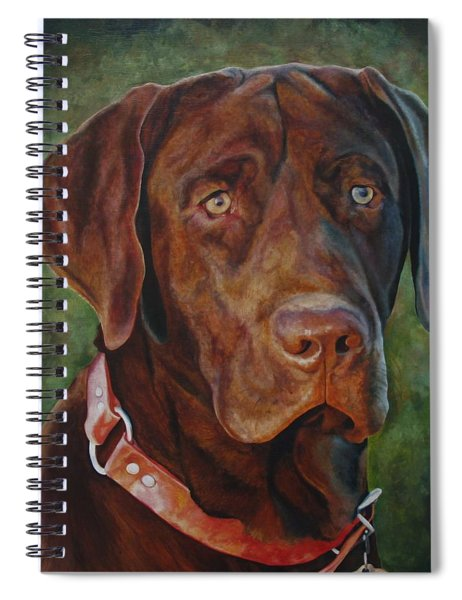 Portrait Of Remington 0094_2 Spiral Notebook