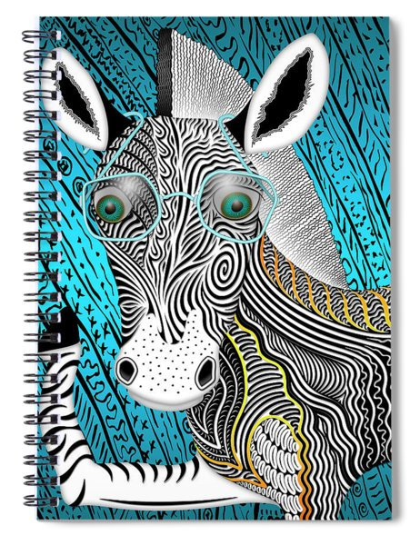 Portrait Of The Artist As A Young Zebra Spiral Notebook