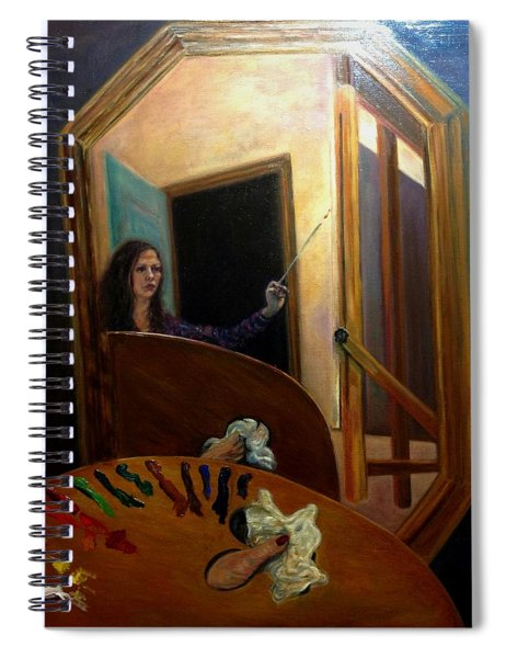 Portrait Of The Artist Spiral Notebook