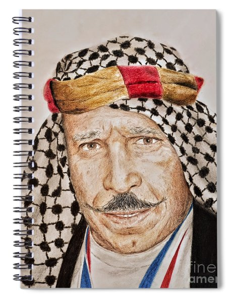 Portrait Of The Pro Wrestler Known As The Iron Sheik Spiral Notebook