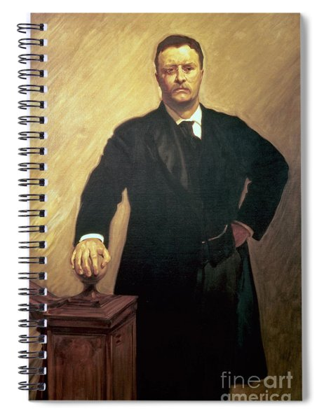 Portrait Of Theodore Roosevelt Spiral Notebook