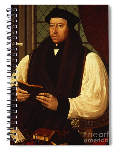 Portrait Of Thomas Cranmer Spiral Notebook