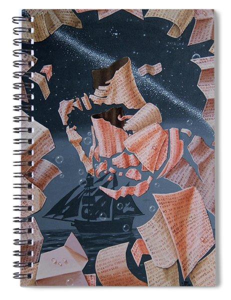 Portrait Of Vladimir Vysotsky Spiral Notebook