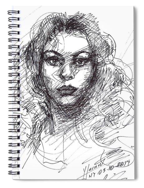 Portrait Sketch  Spiral Notebook