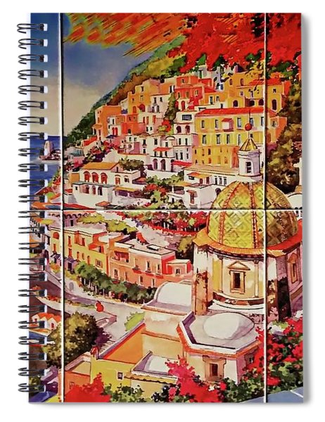 Positano Street Art Spiral Notebook