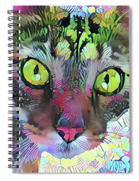 Posie The Tabby Cat Spiral Notebook