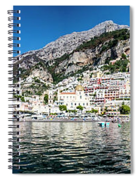 Positano From The Sea - Panorama I Spiral Notebook