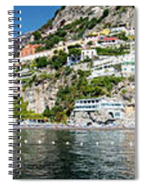 Positano From The Sea - Panorama II Spiral Notebook