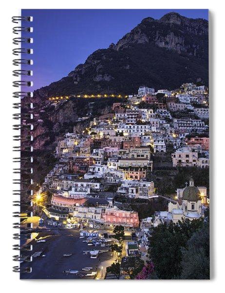 Spiral Notebook featuring the photograph Positano Twilight by Brian Jannsen