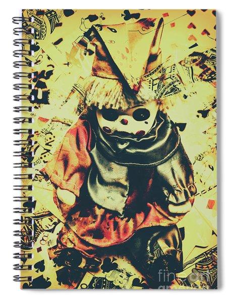 Possessed Vintage Horror Doll  Spiral Notebook