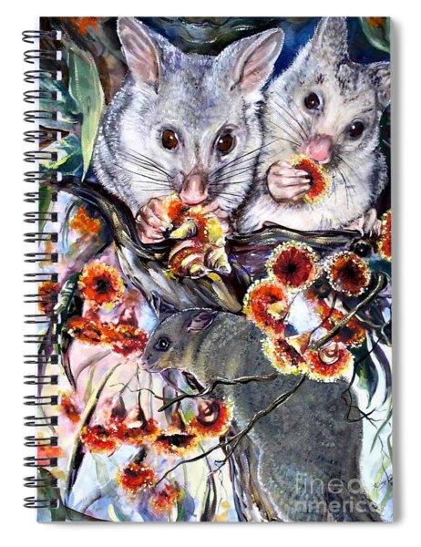 Possum Family Spiral Notebook