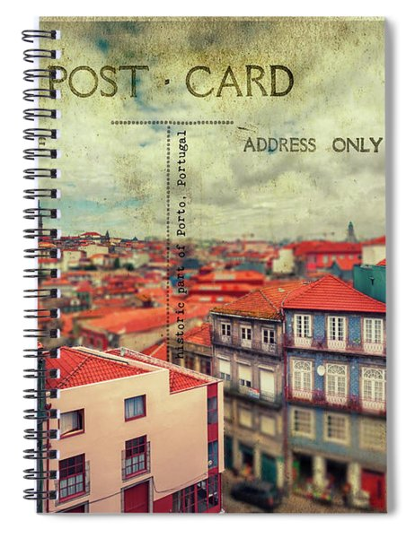postcard of Porto Spiral Notebook