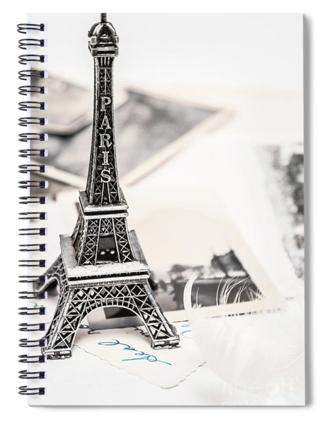 Postcards And Letters From Paris Spiral Notebook