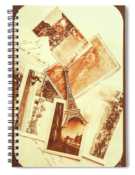 Postcards And Letters From The City Of Love Spiral Notebook