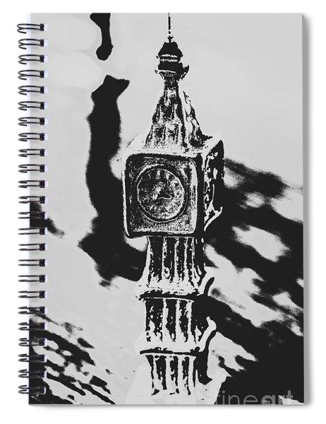 Postcards From Big Ben  Spiral Notebook