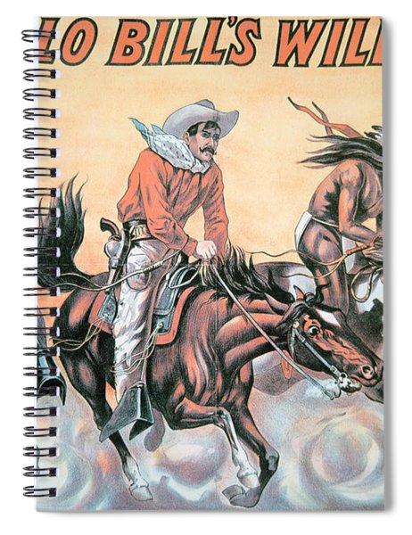 Poster For Buffalo Bill's Wild West Show Spiral Notebook
