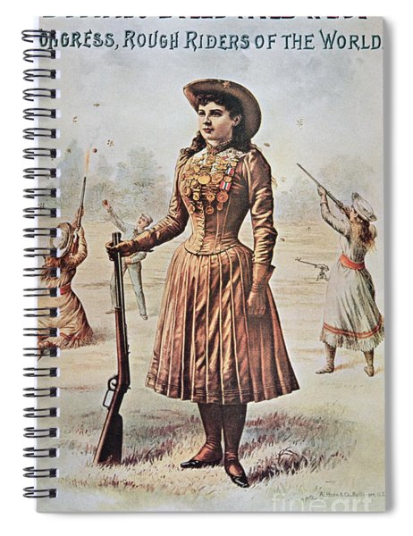 Poster For Buffalo Bill's Wild West Show With Annie Oakley Spiral Notebook