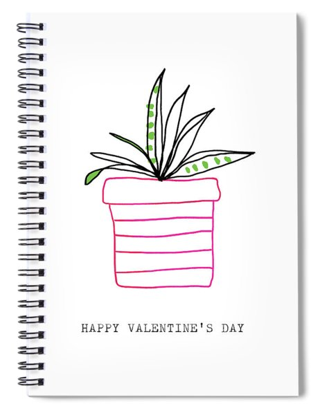 Potted Plant Valentine- Art By Linda Woods Spiral Notebook