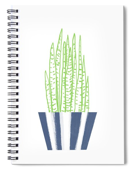 Potted Succulent 3- Art By Linda Woods Spiral Notebook