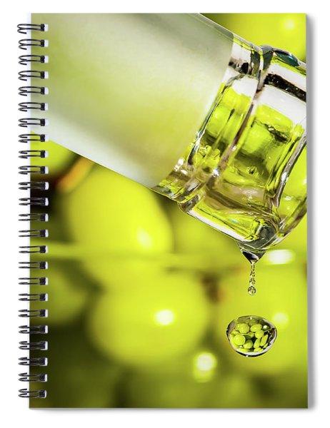 Pour Me Some Vino Spiral Notebook