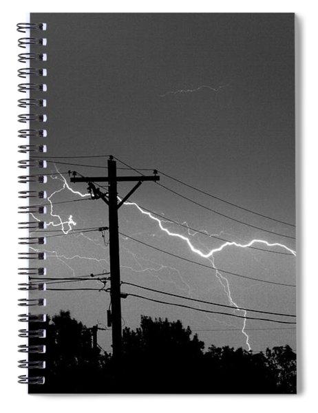 Power Lines Bw Fine Art Photo Print Spiral Notebook