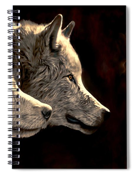 Power Of The Moon Spiral Notebook