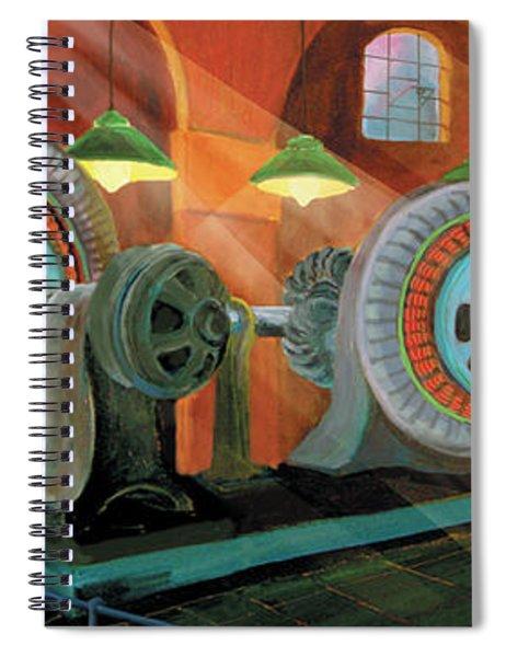 Power Plant Turbines Spiral Notebook