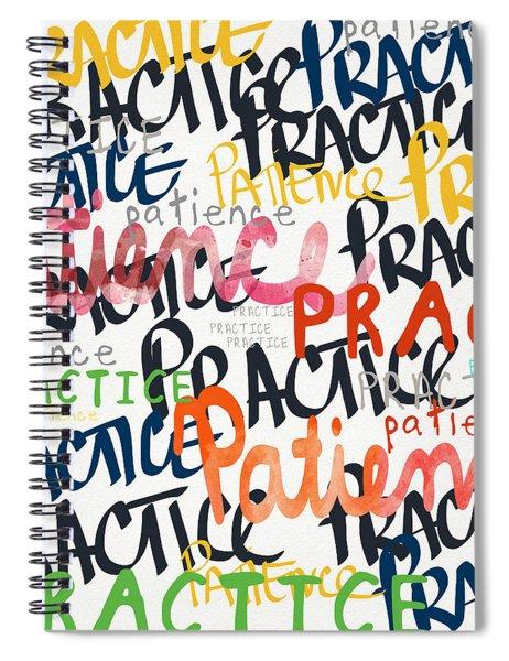 Practice Patience- Art By Linda Woods Spiral Notebook
