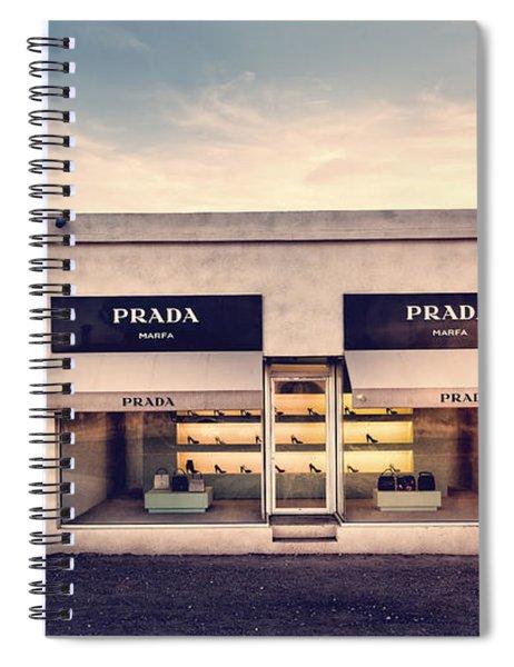 Spiral Notebook featuring the photograph Prada Store by Prada