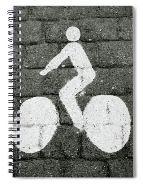Prague Bike Lane-  By Linda Woods Spiral Notebook