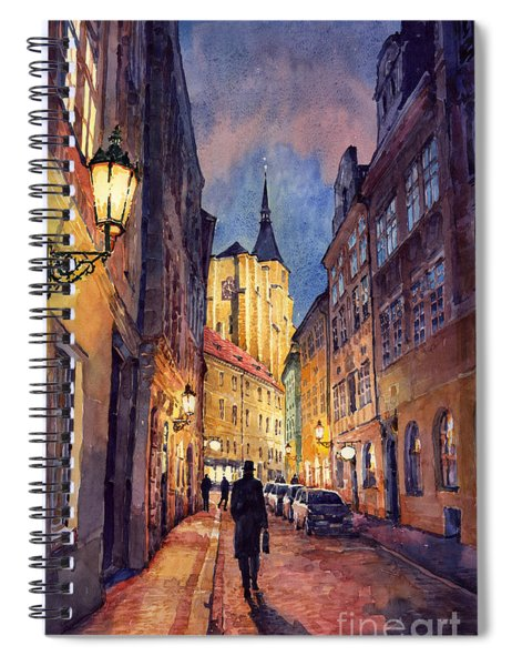 Prague Husova Street Spiral Notebook