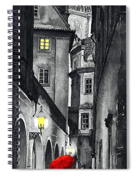 Prague Love Story Spiral Notebook