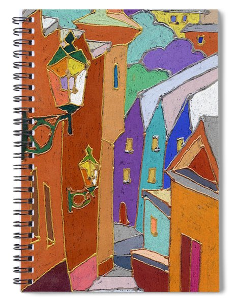 Prague Old Steps Winter Spiral Notebook