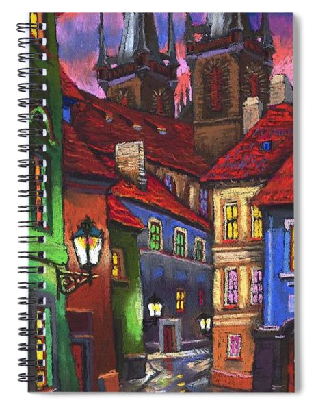 Prague Old Street 01 Spiral Notebook