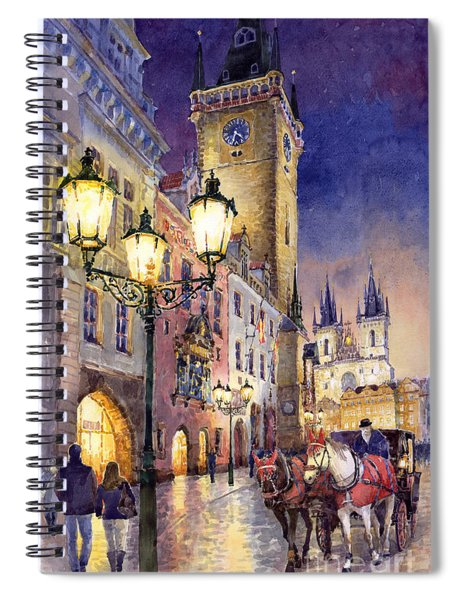 Prague Old Town Square 3 Spiral Notebook