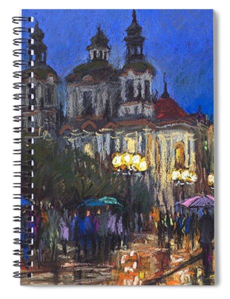 Prague Old Town Square St Nikolas Ch Spiral Notebook